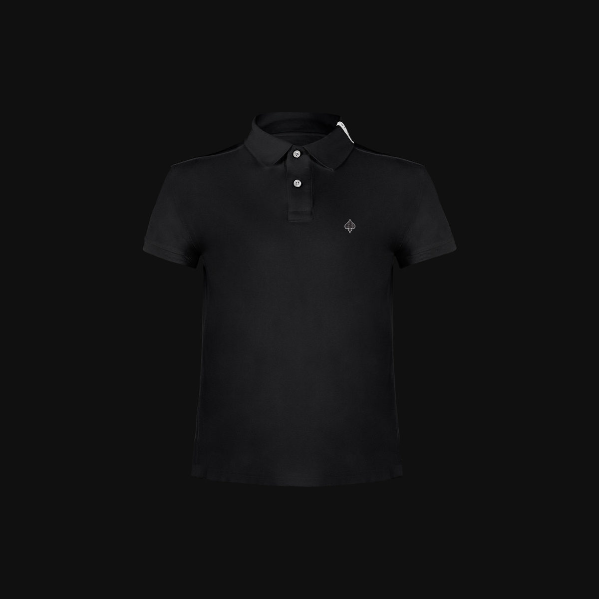 The Exclusive Black Ace polo with carbon fiber for man