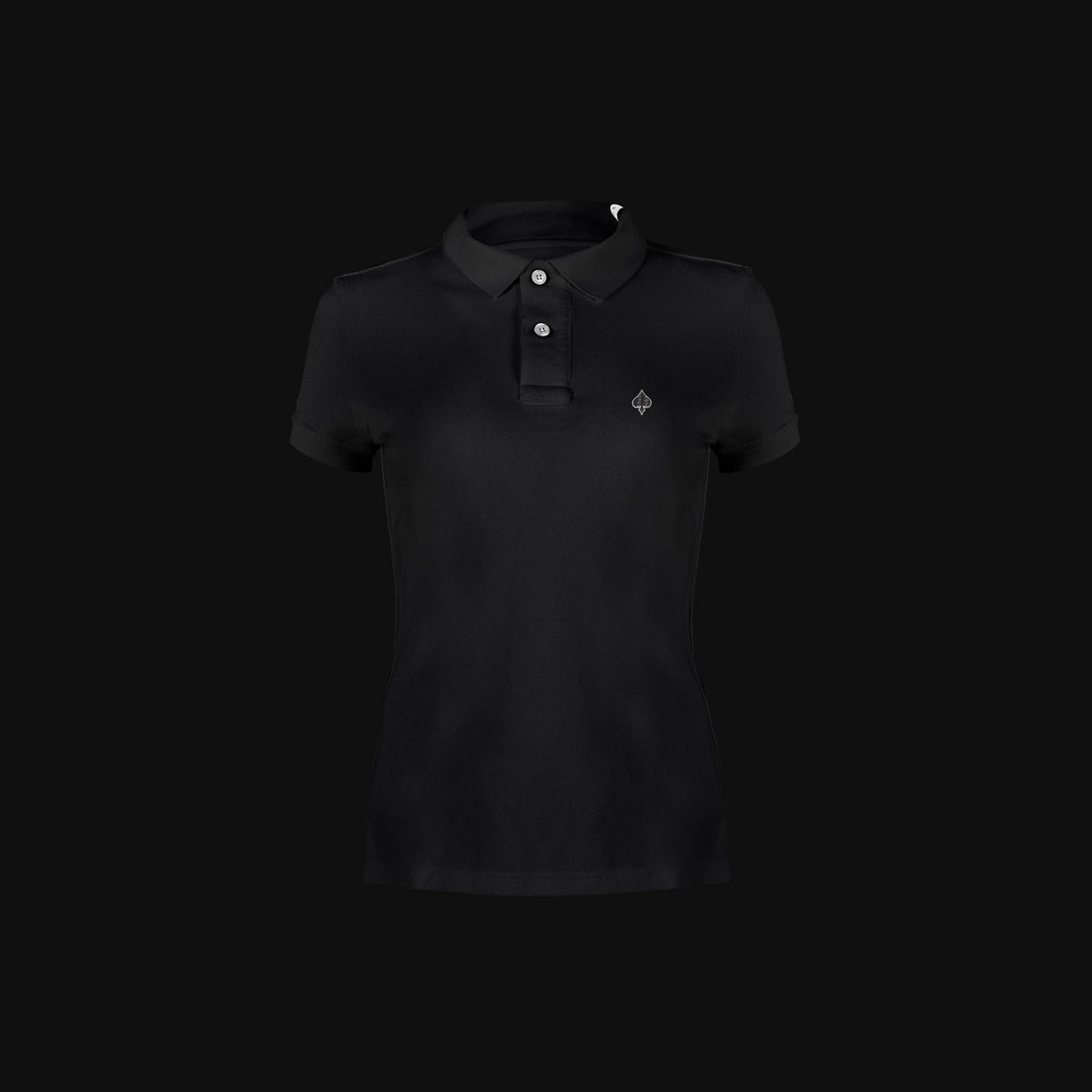 The Exclusive Black Ace polo with carbon fiber for woman