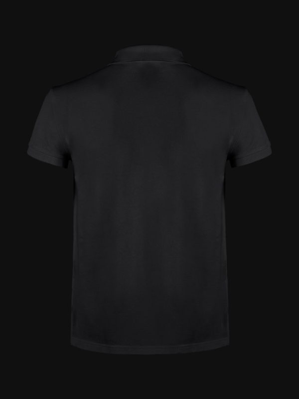 The luxury Black Ace Man Polo Shirt back view