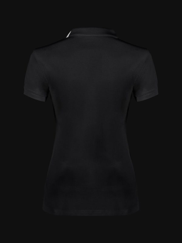 The luxury Black Ace Woman Polo Shirt back view