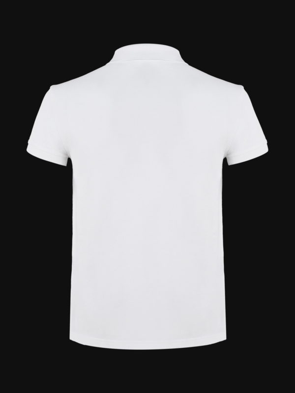 The luxury White Ace Man Polo Shirt back view