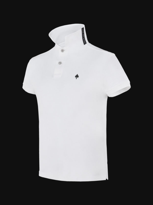 The luxury White Ace Man Polo Shirt side view