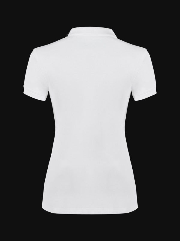 The luxury White Ace Woman Polo Shirt back view