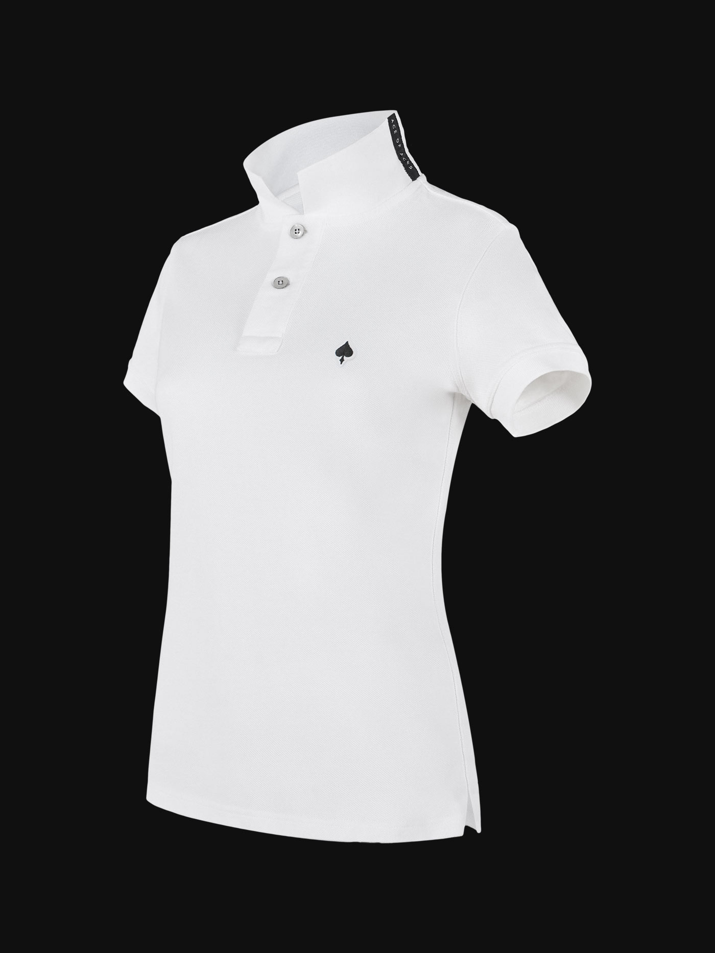 The luxury White Ace Woman Polo Shirt side view