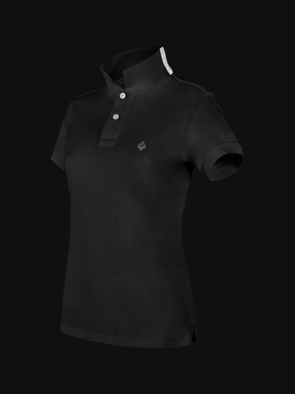 The exclusive Black Ace Limited Edition Woman Polo Shirt side view