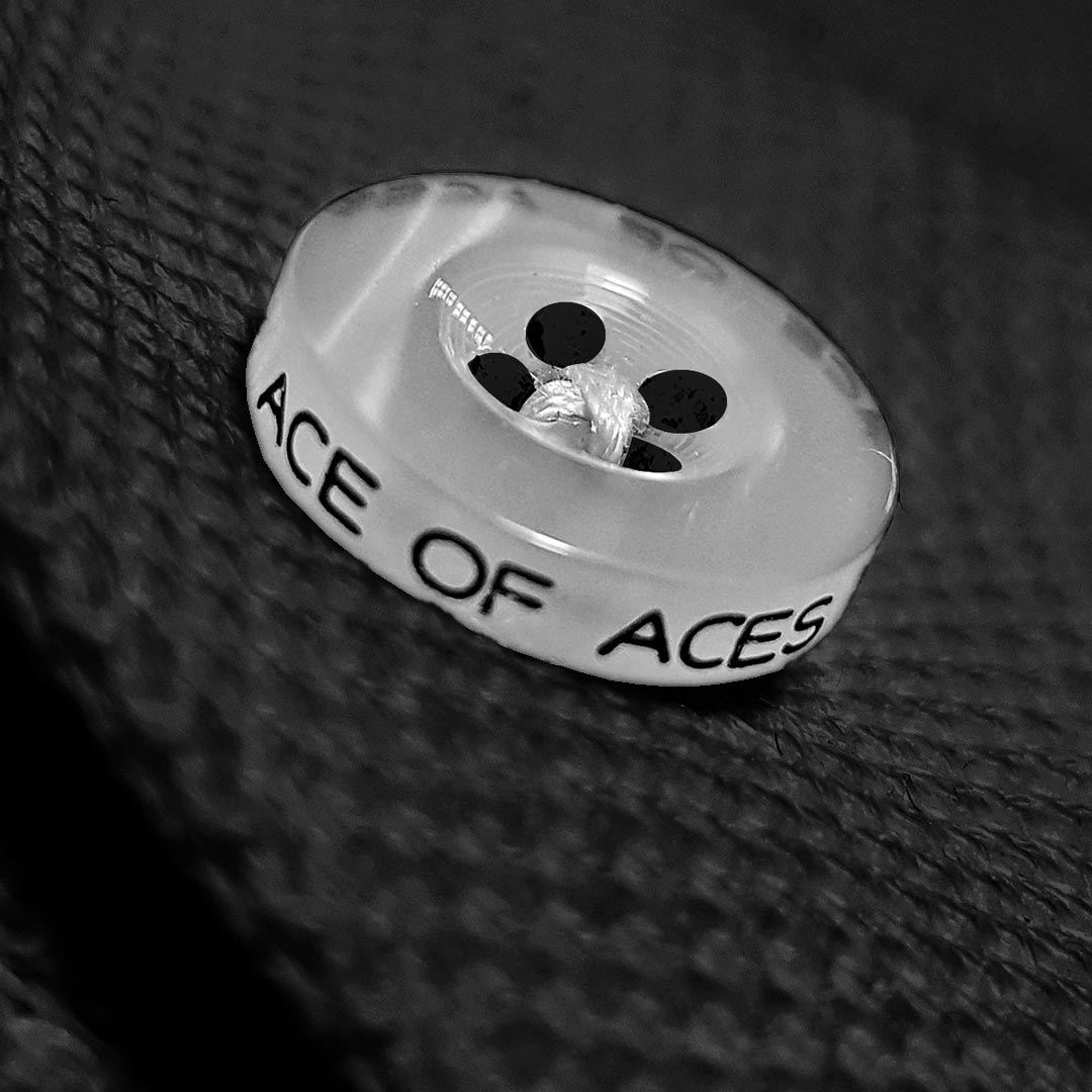 The Black Ace luxury button