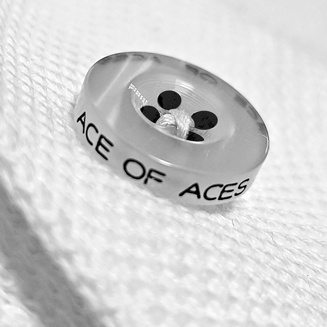 The White Ace luxury button