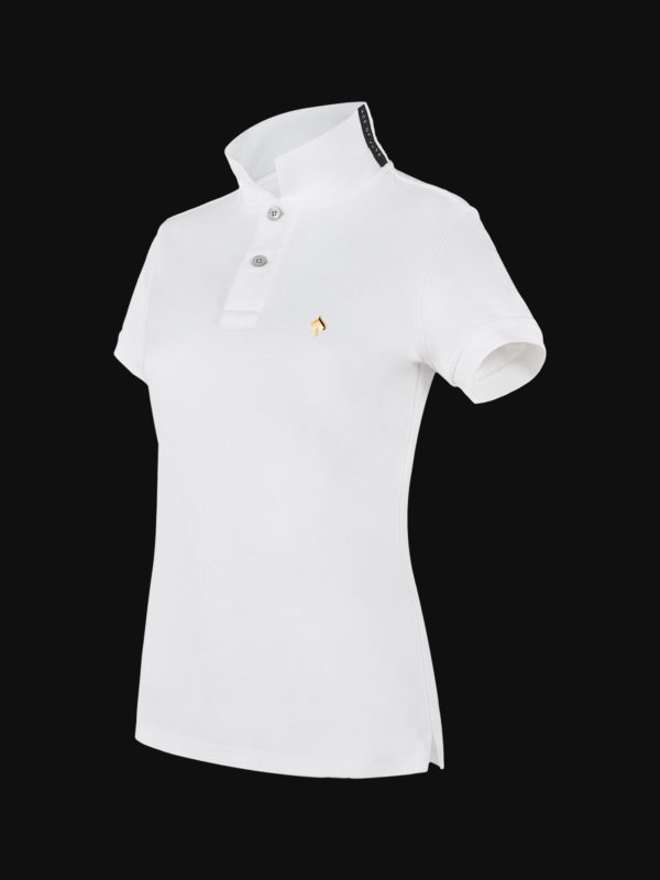 The exclusive White Ace Limited Edition Woman Polo Shirt side view